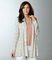 Eileen Fisher Natural Karma Ripple Stitch Long Shaped Cardigan Plus Size 1X