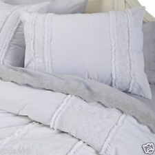 Simply Shabby Chic 3Pc Full/Queen DUVET W/Shams Set White Pieced Lace Mesh New