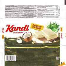 2015 NEW Kandit Crunchy Coconut 80g Schokoladenpapier - chocolate wrapper (CRO)