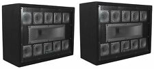 (2) Technical Pro TW110 1000 Watt Carpeted 11-Way DJ Tweeter Box Array System