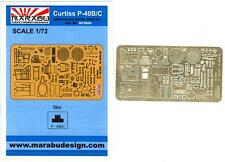 Marabu Models 1/72 CURTISS P-40B/C WARHAWK Photo Etch Detail Set