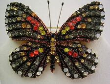 Joan Rivers  Multi Color Butterfly Pin    2""