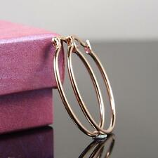"""SALE 9ct 9K """" Gold Filled """" 22 X 33 mm Oval Hoops Earring Valentine Xmas  E626"""