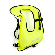 Swimming Buoyancy SNORKEL VEST Adult Kids Children Neon Snorkeling Jacket Green