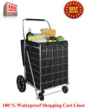 Shopping Cart Liner Folding Grocery Laundry Bag Jumbo Basket Rolling Utility NEW