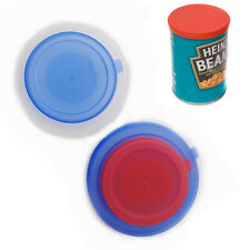 2Pc Can Lid Covers Reusable Plastic Tin Food Pet Food Can 2 Standard Size Caps