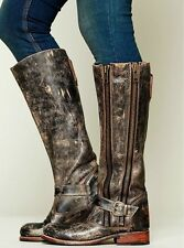Bed Stu Free People Davi Distressed Tango Blk Lux Leather Boots Size 6 Msrp $350