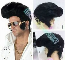 The new black evening party short hair Elvis wig star Rock Wig