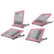 Otter New Box Defender Case w/Stand For iPad 2 iPad 3 iPad 4 Gray/Pink Alpenglow