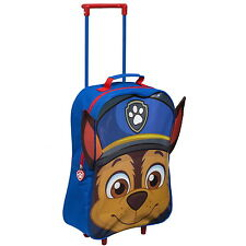 NEW OFFICIAL Paw Patrol Chase Boys Kids Cabin Case Travel Trolley Wheeled Bag
