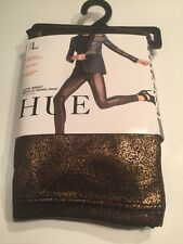 Hue Women Satin Jersey Metallic Gravel Print Leggings Size L Size 12-14 Copper/b