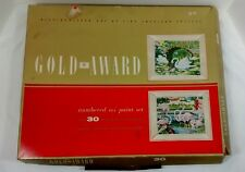 Vintage Swan Flamingo Paint By Numbers Kit Set Gold Award Mid Century