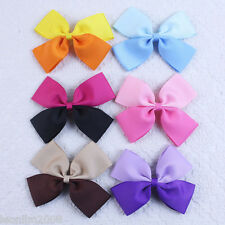 2016 Instock 6pcs Baby Girl grosgrain colorful two-tone Hair bows clips 1261B Y