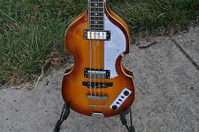 Giannini GB-4V VSB Classic Beatle Violin Semi Hollow Bass Guitar Vintage Burst