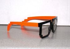 8-Bit Orange & Black Clear Glasses Retro Nerd