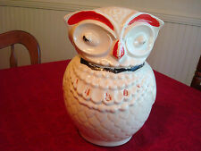 White OWL Cookie Jar~McCoy? American Bisque?~Unmarked