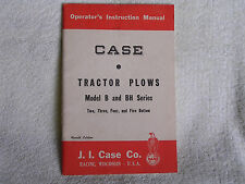 1955 Operator's Instruction Manual/Case Tractor Plows Model B & BH Series/4th Ed