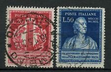 Italy 1949 SG#737-8 Electric Cell Used Set Cat £48 #A41723