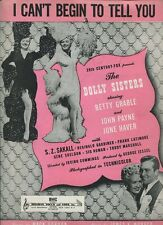 The Dolly Sisters  I Can't Begin To Tell You Betty Grable   Sheet Music  MBX46