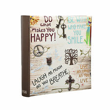 "Grande Ispiratore Slogan scivolare in Memo Photo Album per 200 foto 4 ""X 6-dh200"