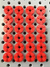 LEGO Red 2x2 Round Plate With Axle Hole Pieces Bricks New Part 4032 Lot Of 24