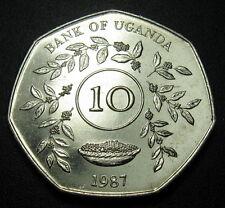 Uganda 10 Shillings  Coin 1987 KM#30 UNC