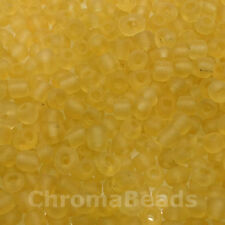 50g glass seed beads - Gold Frosted - approx 4mm (size 6/0) craft