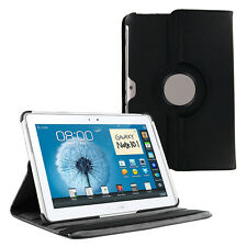 Black 360 Rotating PU Leather Case Cover for Samsung Galaxy Note 10.1 2014