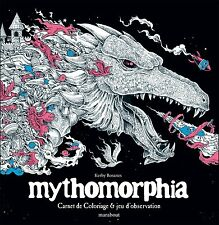 Instock French Mythomorphia Adult Colouring Book Creative Dragon Fantasy Monster