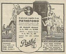 W5826 Pathèfono Pathè Frères - 20 modelli - Pubblicità 1926 - Advertising