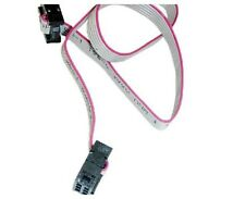 2Pcs FC-6P 2.54mm Pitch 30cm Long JTAG AVR Download Cable Wire
