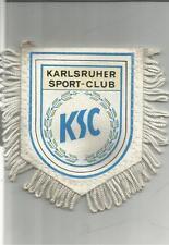 Raro GAGLIARDETTO Pennant CALCIO SOCCER FOOTBALL KARLSRUHER SPORT CLUB KSC