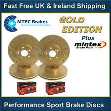 Golf GTi mk5 04-08 MTEC Gold Edition Front Rear Drilled Brake Discs Mintex Pads