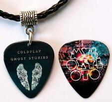 Coldplay Ghost Stories / Mylo Guitar Pick Double Sided Black Necklace