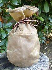 Large Waxed Canvas Sami Style Pouch  Bushcraft Survival Camping Fire Kit