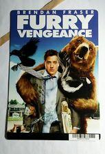 FURRY VENGEANCE BRENDAN FRASER REGULAR COVER BLUE BACKER CARD (NOT A movie )