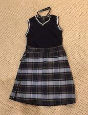 Girls School Uniform-w Rhinestones (Dance Costume) Tie Skirt Sweater Vest Black