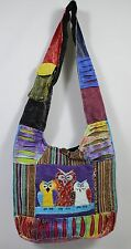 OWL HOBO SHOULDER BAG Hippie Patchwork Purse NEW Nepalese Handcrafted Fabric Art
