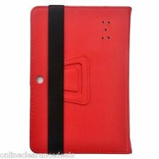 """NEW PU LEATHER PROTECTIVE FLIP STAND CASE ALLWINNER Q88 7"""" INCH TABLET *RED*"""