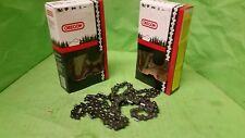 """(2) Loops 18"""" Bar Oregon Chain 21LPX072G .058"""" Gauge .325"""" Pitch Chainsaw Parts"""