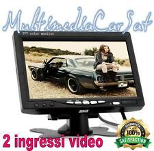"""Monitor 7"""" Auto Camper Parcheggio Sorveglianza Retromarcia Schermo Telecamere"""
