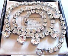 Vintage Jewellery Art Deco 1930s Glass Crystal Rhinestone Drop NECKLACE