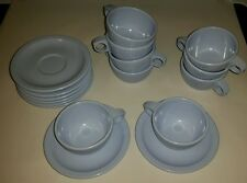 Set of 18 (9 each)Retro Vintage Dallas Ware Melmac Cups & Saucers  Caribean Blue