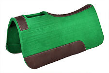 Western Hunter Green Felt Pad with Leather Lining 34 x 32 ( 20MM)