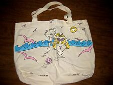 YAMBOS & SUCH art tote bag Michelle Lyon-Russell bodybuilder beach scene canvas