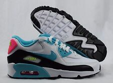 Nike Air Max 90 LTR 833376-104 White Blue Pink Youth GS Girls Shoes Size 6Y
