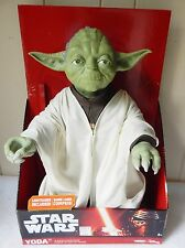 "STAR WARS DISNEY 18"" LARGE YODA DOLL ACTION FIGURE W/LIGHT SABER"