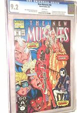 new mutants #98 CGC 9.2  first Deadpool white Pages