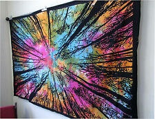Indian Mandala Tree Of Life Wall Hanging Tie Dye Tapestry Throw Decor Bedspread