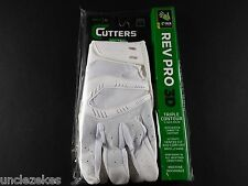 Cutters Rev Pro 3D White Adult XL Football Gloves